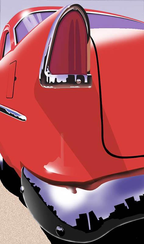 Airbrushed car
